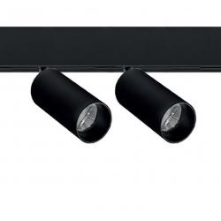 48V tracklight 2x8w - black