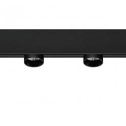48V tracklight 2x2w - fixed - black